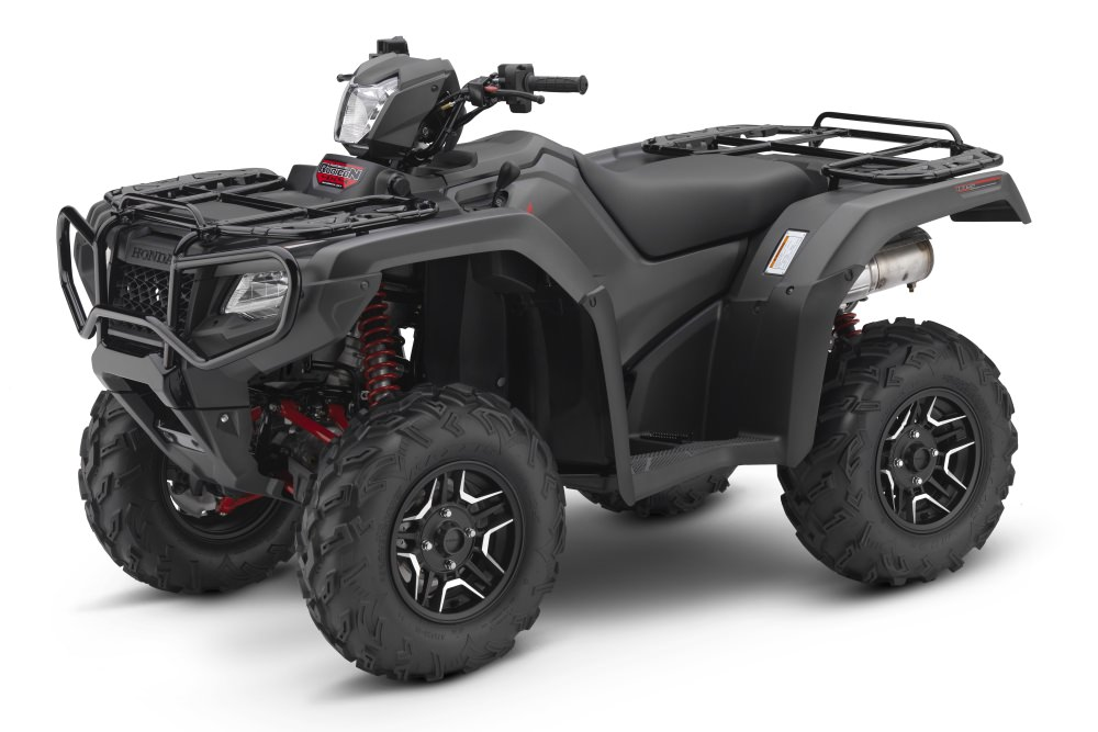 2017 Honda Rubicon Deluxe 500 DCT EPS ATV Review / Specs - Matte Gray Metallic TRX500FA7 4x4 Four Wheeler - Dual Clutch Automatic Transmission + Electric Power Steering + Painted Plastic