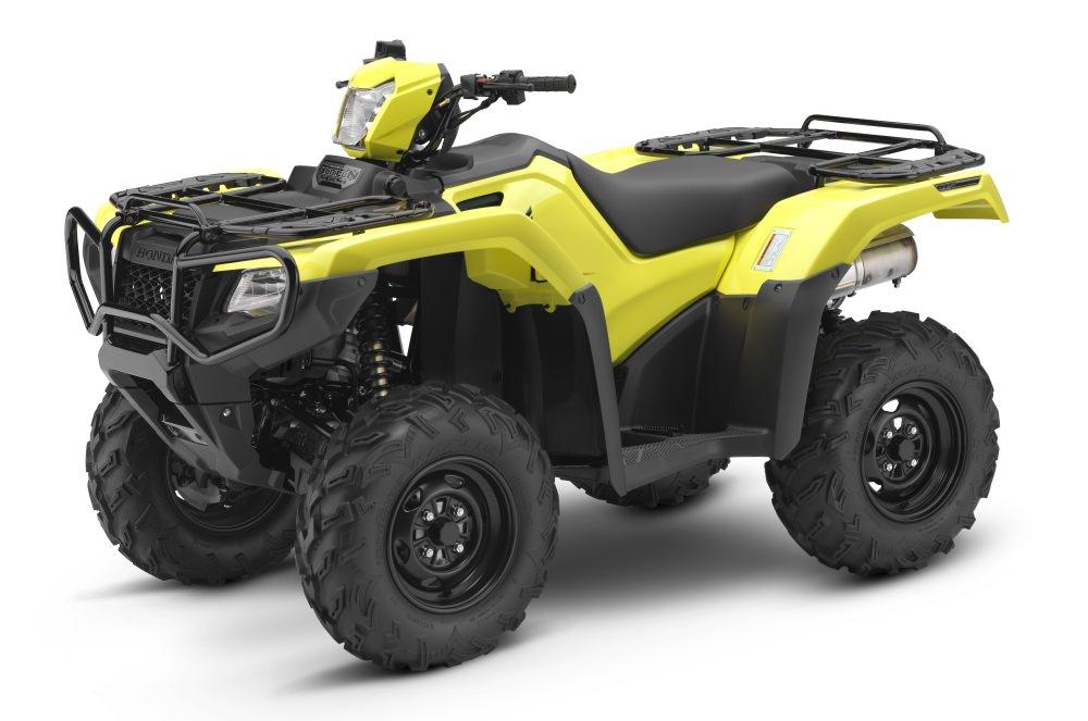 Yellow 2017 Honda Rubicon 500 EPS ATV Review / Specs - TRX500FM6 4x4 Four Wheeler