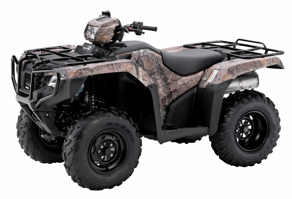 2017 Honda Foreman 500 ES + EPS Camo ATV Review / Specs - TRX500FE2 4x4 FourTrax Four Wheeler - Electric Shift + Electric Power Steering