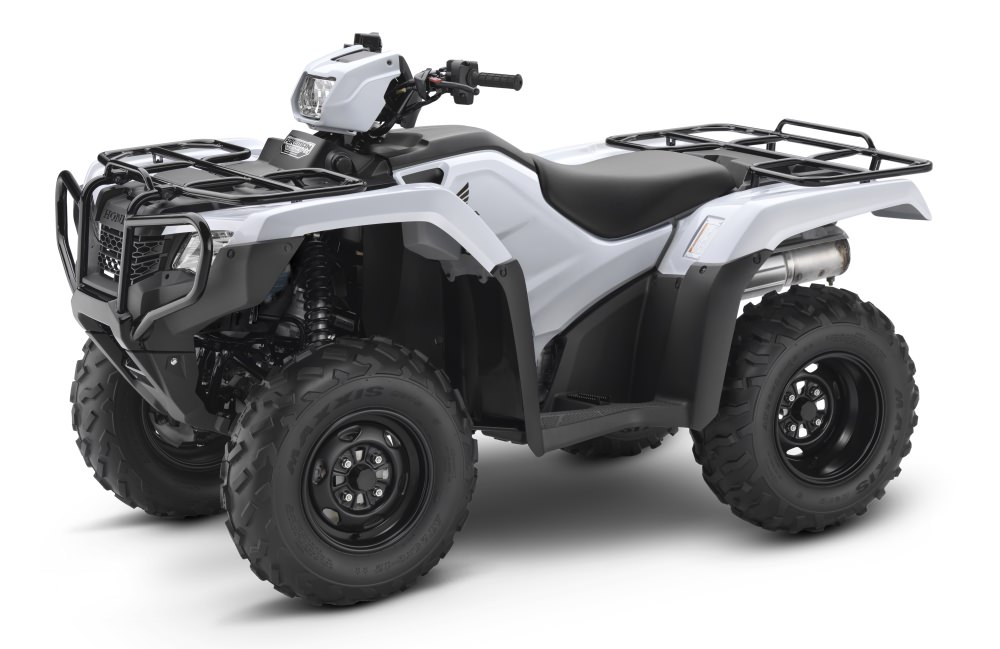 White 2017 Honda Foreman 500 ES + EPS ATV Review / Specs - TRX500FE2 4x4 FourTrax Four Wheeler - Electric Shift + Electric Power Steering