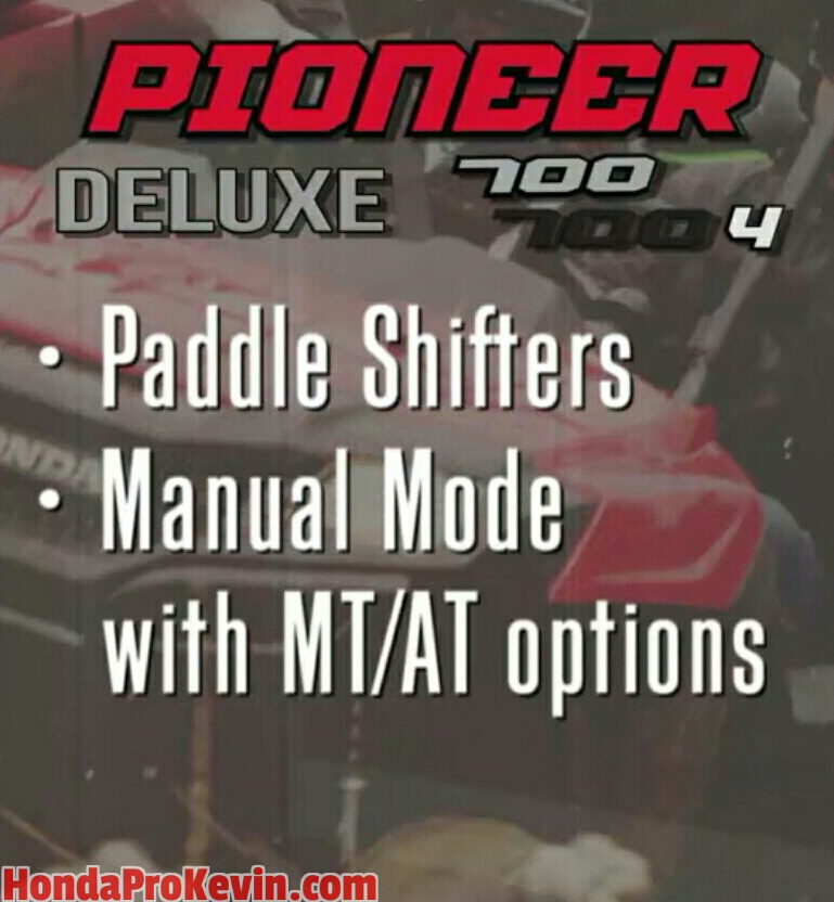 2017 Honda Pioneer 700 Changes - Paddle Shifters / Manual Transmission - Side by Side ATV / UTV / SxS / Utility Vehicle