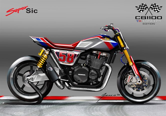 2017 Honda CB1100 TR Concept Motorcycle - Retro Cafe Racer / Flat Track Style Vintage CB 1100 Bike - CB1100TR