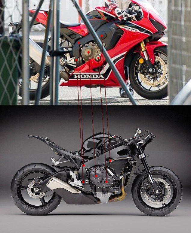 2017 CBR1000RR vs 2016 CBR1000RR Changes / Comparison - CBR 1000 RR Sport Bike Motorcycle Leaked Photos