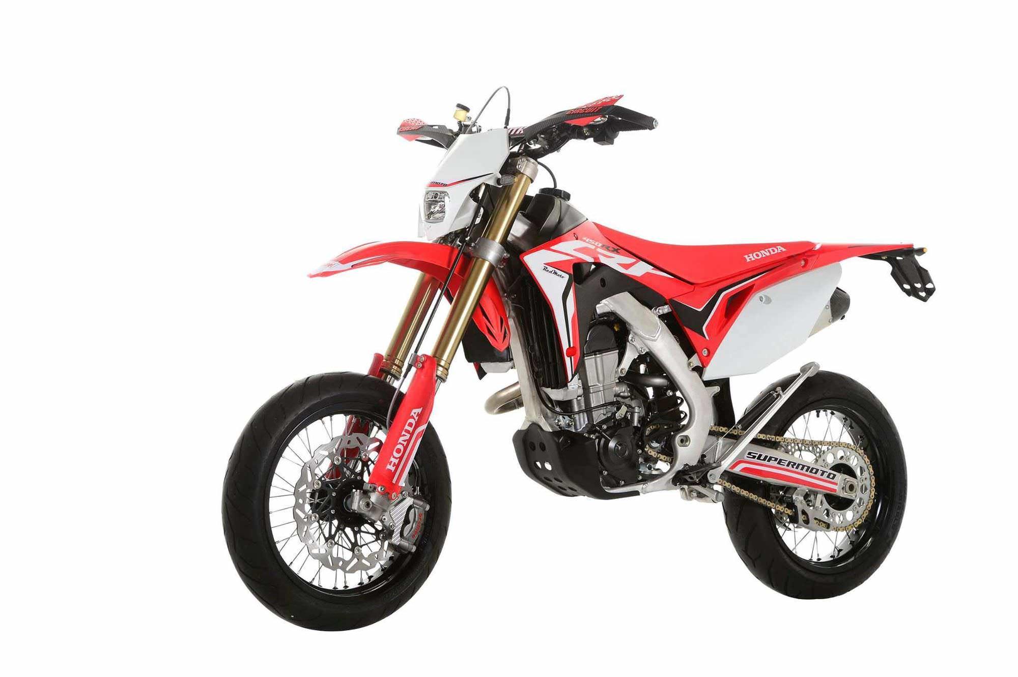 2017 Honda CRF450R SuperMoto Motard Bike / Motorcycle Review & Specs - CRF450R, CRF450X, CRF500R, CRF500X CRF Models