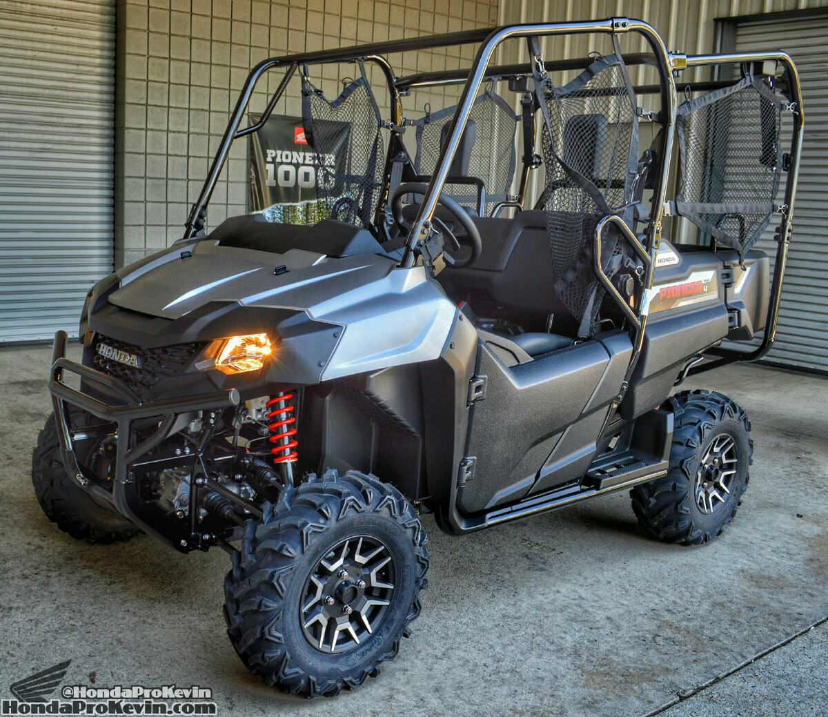 2017 Honda Pioneer 700-4 Deluxe Review / Specs - UTV / Side by Side ATV / SxS Utility Vehicle 4x4 - Matte Silver Metallic SXS700 / SXS700M4