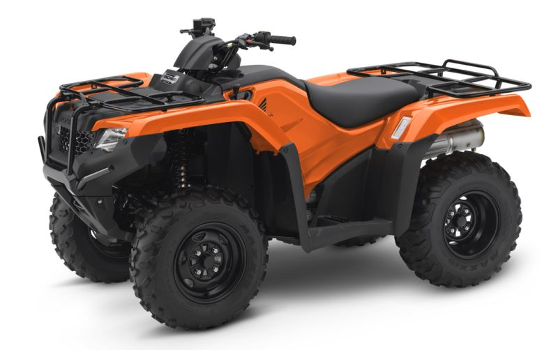 2018 Honda Rancher 420 4x4 ATV Review of Specs - TRX420FM1J Orange