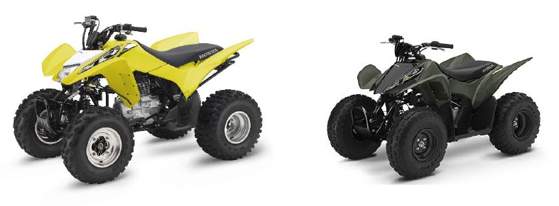 2018 Honda TRX250X Sport ATV & 2018 Honda TRX90X Kids ATV