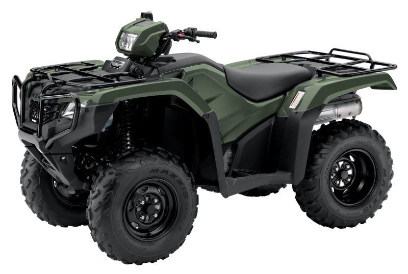 2018 Honda Foreman 500 ATV Review of Specs - TRX500FM1J Olive Green