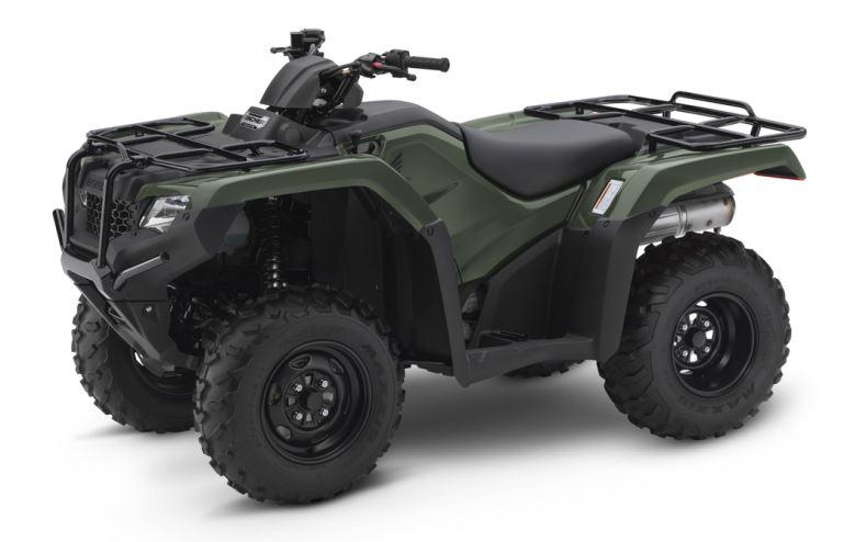 2018 Honda Rancher 420 4x4 ATV Review of Specs - TRX420FM1J Olive Green