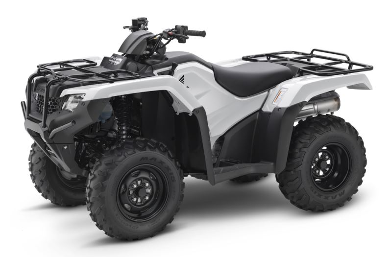 2018 Honda Rancher DCT EPS 420 4x4 ATV Review of Specs - TRX420FA2J White