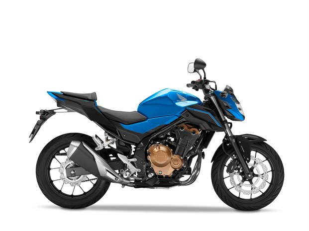 2018 CB500F Candy Caribbean Blue Sea, Matt Black
