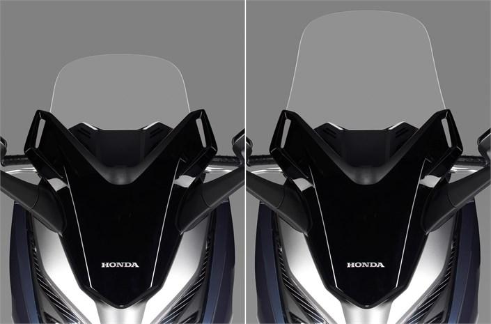 2018 Honda Forza 300 Windshield / Headlights