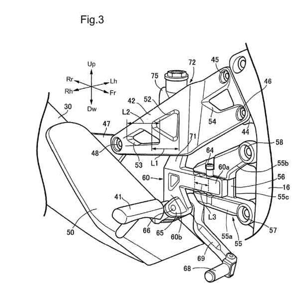 2 | 2018 Honda Motorcycle V4 Sport Bike News / Patent Documents - Pictures - CBR V4