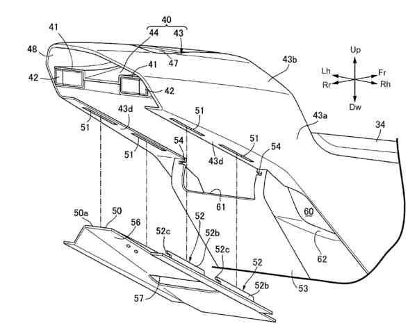 2018 Honda Motorcycle V4 Sport Bike News / Patent Documents - Pictures - CBR V4