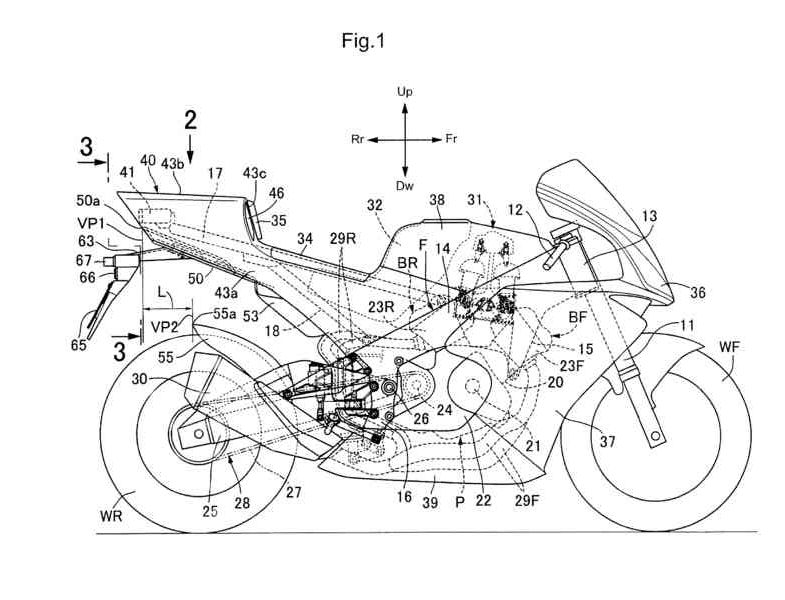 2018 Honda Motorcycle V4 Sport Bike News / Patent Documents - Pictures - CBR / RVF V4