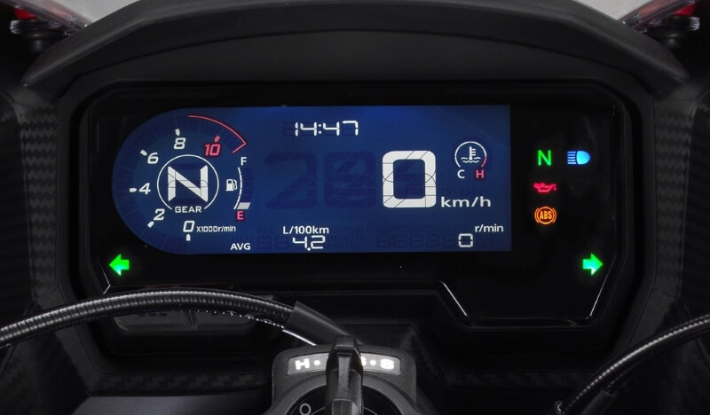 2019 Honda CBR500R Speedometer / Gauges / Meter Display / Instruments