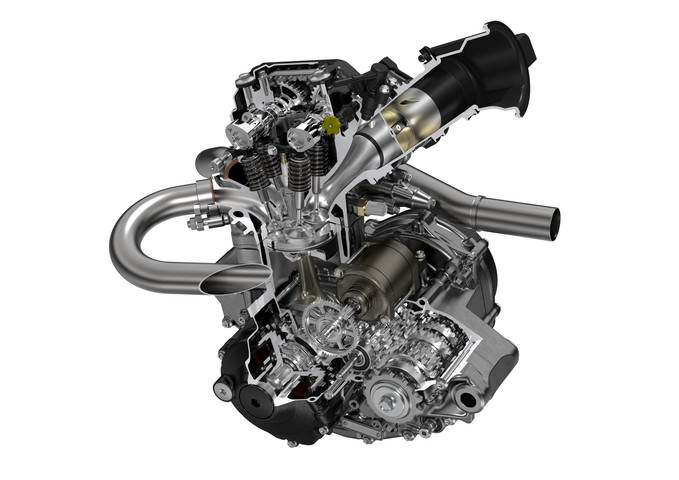 2019 Honda CRF250R DOHC Engine Details / Cutaway Pictures - Horsepower / Torque Performance Increase + Exhaust Header