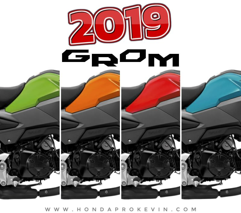 New 2019 Honda Grom 125 Colors: Cherry Red, Blue Raspberry, Incredible Green, Halloween Orange | MSX 125 | Motorcycle Review / Specs: Buyer's Guide