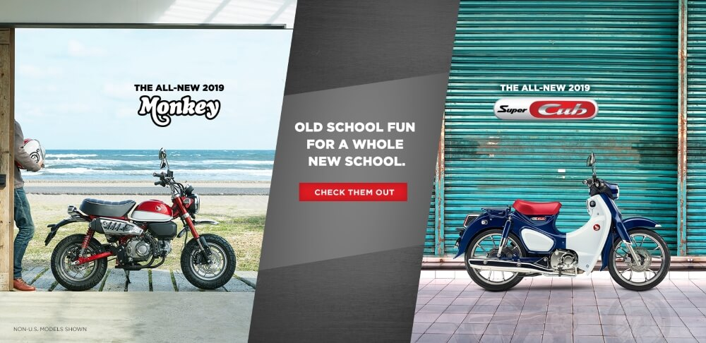 New 2019 Honda Motorcycles | Monkey 125 & Super Cub 125 ABS Reviews / Specs: Buyer's Guide