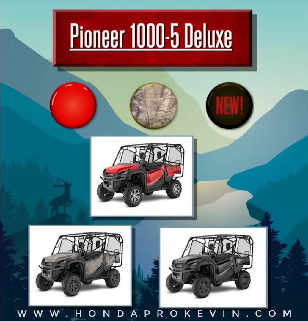 2019 Honda Pioneer 1000-5 Deluxe Review / Specs   Price, Changes, Colors, Release Date + More!   Side by Side / UTV / SxS / ATV