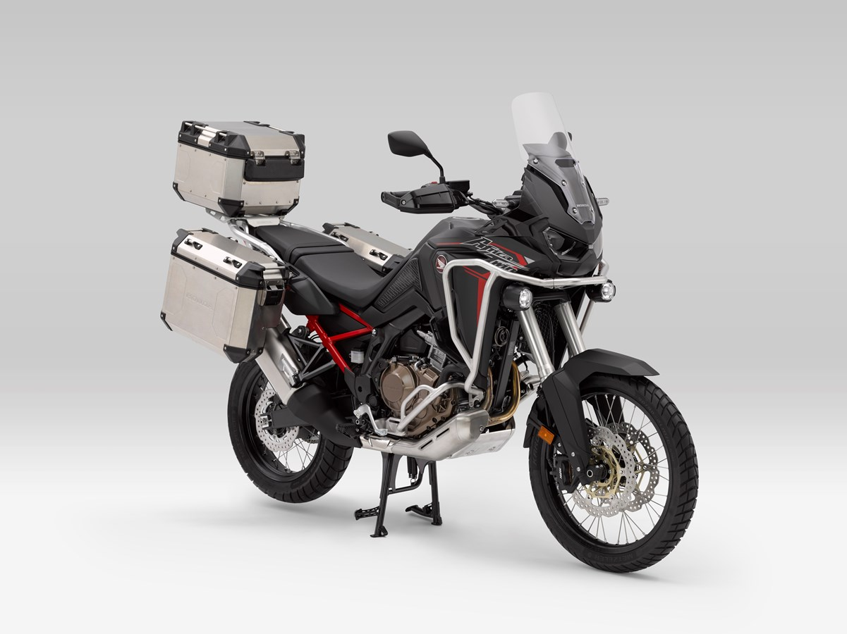 2020 Honda Africa Twin 1100 / CRF1100 with Accessories: Saddlebags, panniers, trunk and more