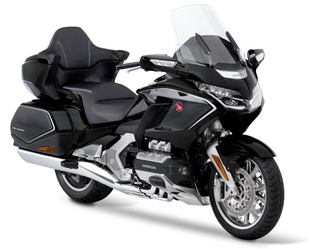 2020 Honda Gold Wing Tour DCT Airbag Review / Specs + NEW Changes Explained - Darkness Black Metallic / Gray GL1800DA