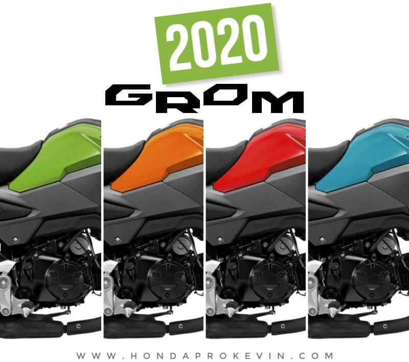 2020 Honda Grom 125 Colors | Options: Cherry Red, Halloween Orange, Incredible Green, Blue Raspberry