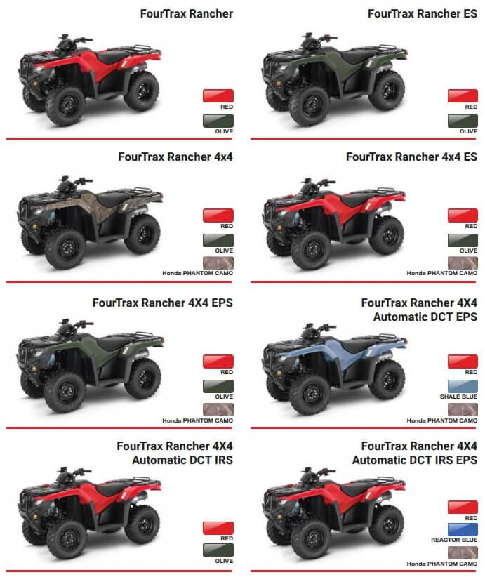 2021 Honda Rancher 420 ATV Model Lineup Review / Specs | TRX420 FourTrax 4x4