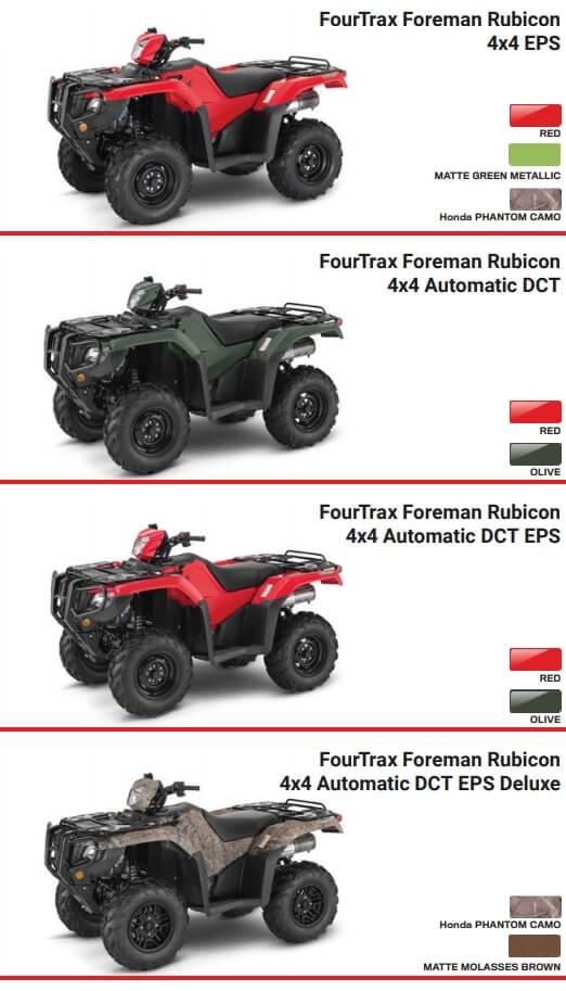 2021 Honda Rubicon 520 ATV Model Lineup Review / Specs | TRX520 FourTrax 4x4
