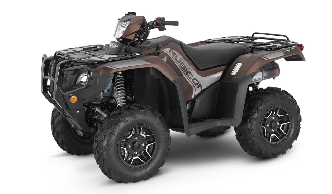 2021 Honda Rubicon Deluxe 520 DCT / EPS (TRX520FA7) | Review & Specs | Matte Molasses Brown