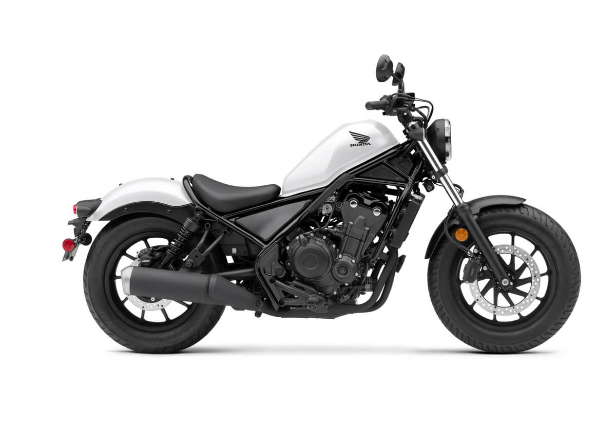 2021 Honda Rebel 500 Review / Specs | Price, Changes, Colors + More on the 500 cc Cruiser Motorcycle from Honda | Matte Pearl White 2021 Rebel 500 (CMX500)