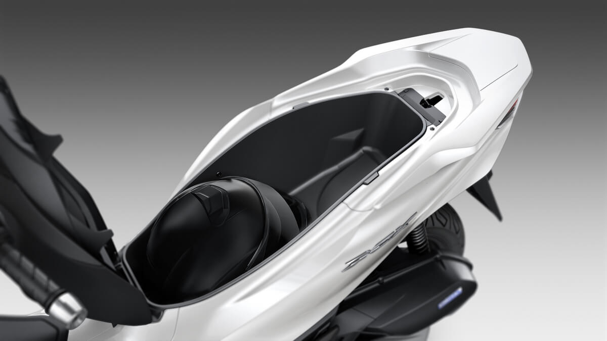 2021 Honda PCX Scooter Review / Specs | NEW Seat Storage Area for Helmet!