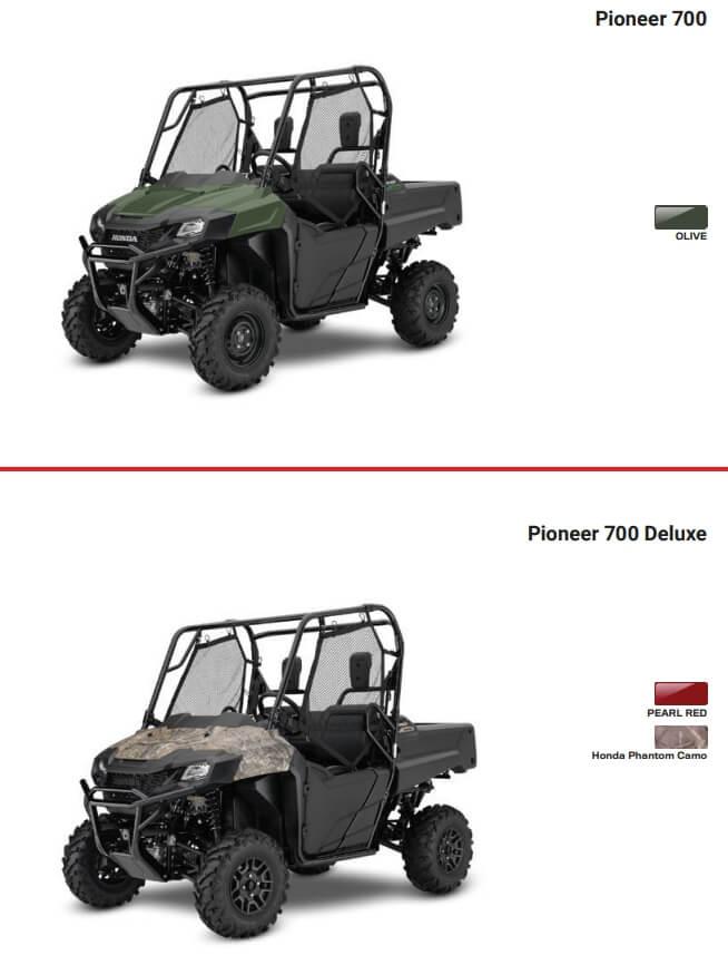 2021 Honda Pioneer 700 Model Lineup / Colors | Review & Specs