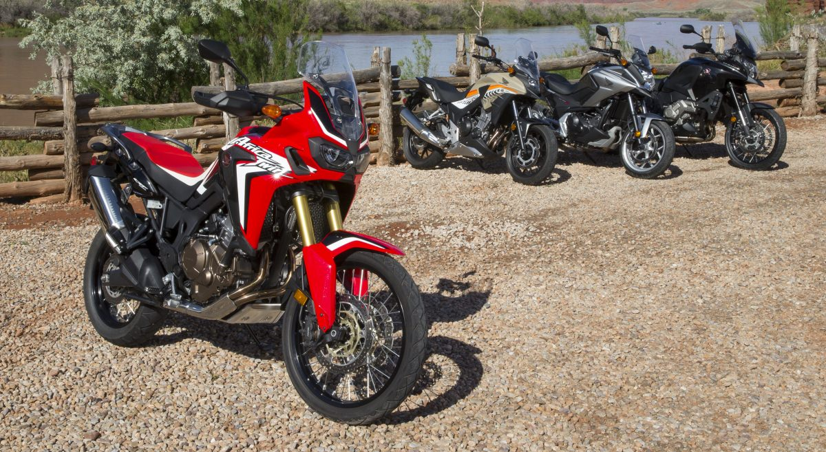 Honda Adventure Motorcycles / Bikes - Africa Twin CRF1000L, VFR1200X CrossTourer, NC700X, CB500X