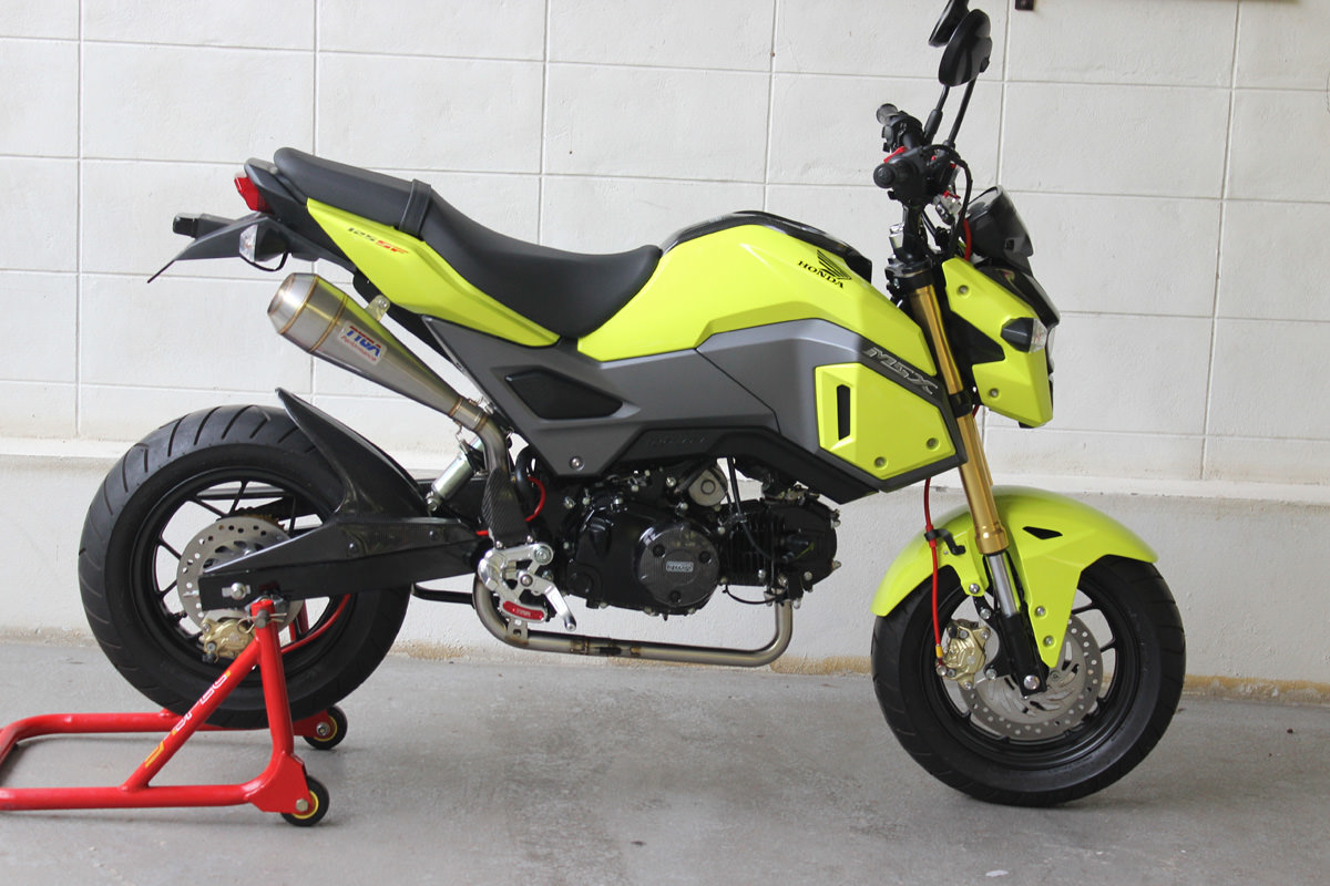 new 2017 honda grom msx 125 exhaust systems released by. Black Bedroom Furniture Sets. Home Design Ideas