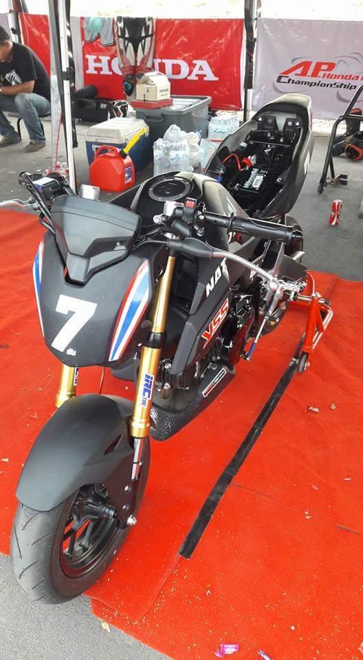 2017 Honda Grom MSX 125 HRC Race Bike / Motorcycle - Performance Mods / Parts: Exhaust, Ohlins Suspension, Track Plastics & Bodywork