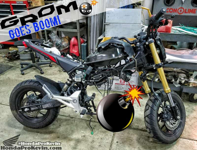 Honda Grom MSX 125 Engine Blown / Problems - Damage - 125cc Motorcycle / Mini Bike / MSX125 / Grom125