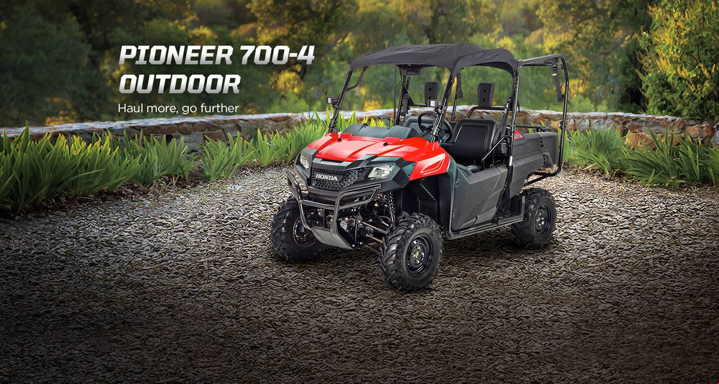 Honda Pioneer 700-4 Outdoor Accessories Package Review - Hard Top / Roof, LED Lights, Wheels & Tires, Windshield / Windscreen - Side by Side ATV / UTV / SxS / Utility Vehicle 4x4 - SXS700M4