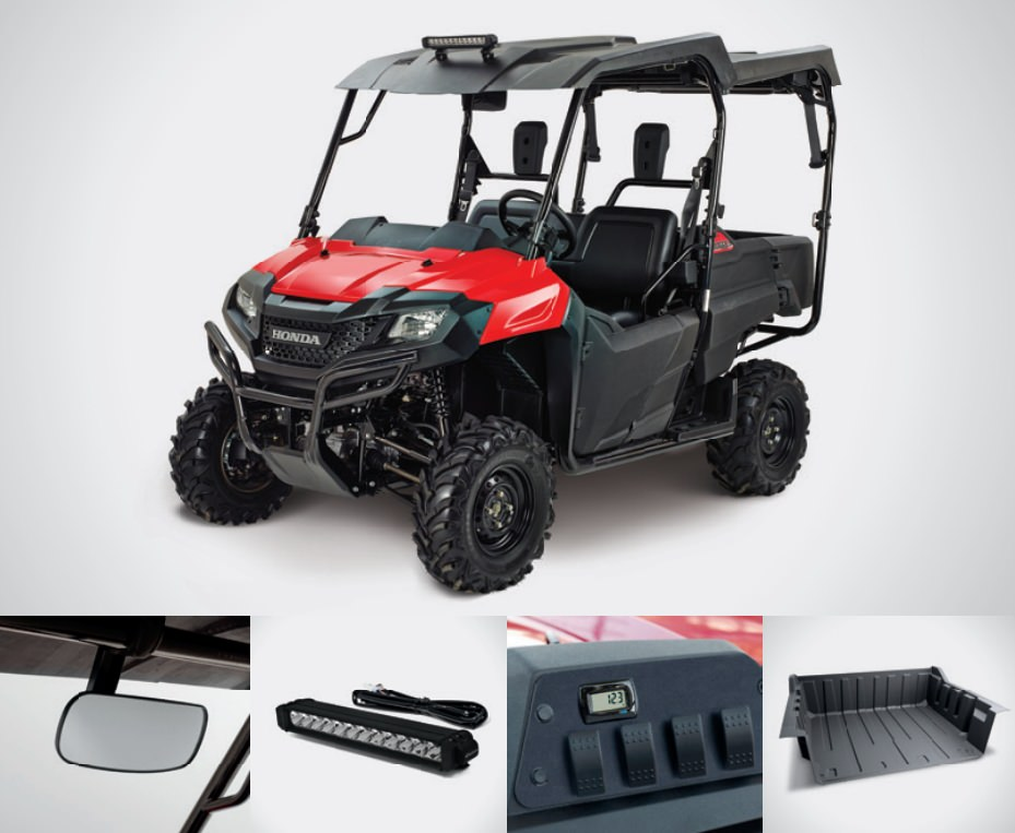 Honda Pioneer 700-4 Work Accessories Package Review - Hard Top / Roof, LED Lights, Wheels & Tires, Windshield / Windscreen - Side by Side ATV / UTV / SxS / Utility Vehicle 4x4 - SXS700M4