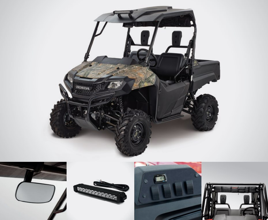 Honda Pioneer 700 Trail Accessories Package Review - Hard Top / Roof, LED Lights, Wheels & Tires, Windshield / Windscreen - Side by Side ATV / UTV / SxS / Utility Vehicle 4x4 - SXS700M2