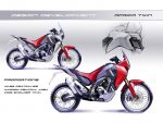 Honda Africa Twin CRF1000L Concept Motorcycle / Prototype Bike Pictures