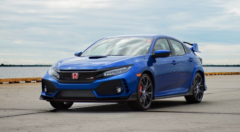 2017-2018 Honda Civic Type R Detailed Review / Specs - Hatchback CTR FK8 Blue