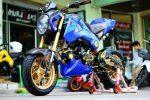 custom-honda-grom-msx125-blue-belly-cowl-gold-wheels-sport-bike