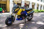 custom-honda-grom-msx125-blue-exhaust-wheels-swingarm-cowl-fairings-lowered-headlight-carbon-fiber-2