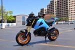 custom-honda-grom-msx125-blue-orange-wheels-seat-cowl-carbon-fiber