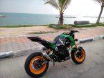 custom-honda-grom-msx125-green-exhaust-wheels-plastics