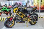 custom-honda-grom-msx125-motorcycle-exhaust-wheels-plastic-cowl-body
