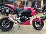custom-honda-grom-msx125-pink-exhaust-wheels-cowl-plastics-body-fairings-