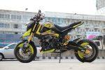 custom-honda-grom-msx125-yellow-hyper-motard-wheels-cowl-motorcycle-bike-fairings-plastics-1