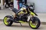 custom-honda-grom-msx125-yellow-hyper-motard-wheels-cowl-motorcycle-bike-fairings-plastics-4